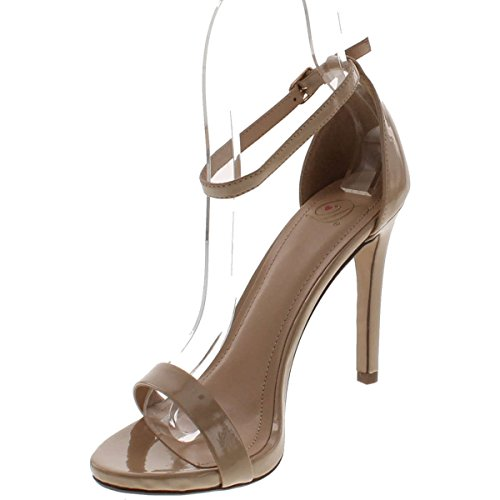 Picture of Delicious Women's Jaiden Faux Nubuck Leather Wide Strap Single Sole Heels 4