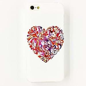 CECT STOCK Patrón de la flor del amor del estuche rígido de policarbonato para el iPhone 5/5S , Multicolor