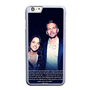 Custom made Case,Paul Walker Cell Phone Case for iPhone 6 6S plus 5.5 inch, White Case With Screen Protector (Tempered Glass) Free S-7309846