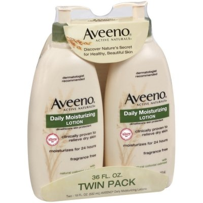 Aveeno Lotion hydratante quotidienne Twin Set - 18 oz (2 Pack)