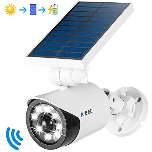 Solar Motion Sensor Light Outdoor - 800Lumens 8 LED Spotlight 5-Watt Solar Lights Outdoor IP66 Waterproof, Wireless Solar Flood Light for Porch Garden Patio Driveway Pathway