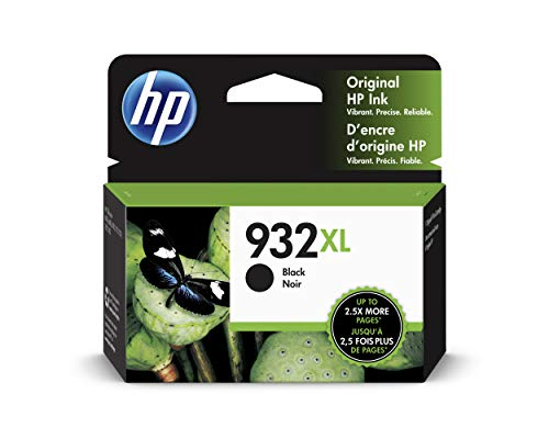 HP 932XL Black Ink Cartridge, (CN053AN) for HP Officejet 6100 6600 6700 7110 7510 7610 7612 (Hp 932xl Black Ink Cartridge Cn053an High Yield)