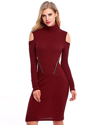 Zip Shoulder Dress - 1