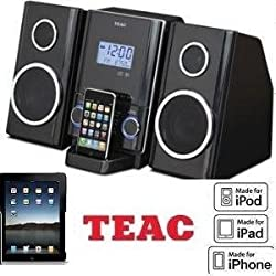 THE NEW TEAC CD-X70i --- MINI Hi-Fi SYSTEM w/IPOD/IPHONE DOCK W/Remote -- Micro Hi-Fi System made for MP3 CD disks-- speakers are base-reflex type two way stereo-- charges your iPod or iPhone