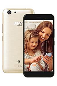SKY Devices – Elite 5.0L+, 4G LTE Android Unlocked Smartphone, 13MP/8MP Cameras, 16GB Storage, 2GB RAM - Gold