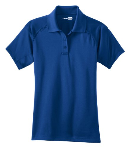 CornerStone Women's Snap Collar Fitted Polo Shirt. CS411 - Royal CS411 4XL