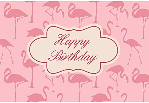 Cassisy 2,2x1,5m Vinilo Cumpleaños Telon de Fondo Feliz cumpleaños Banner Flamingo Pink Wallpaper Fondos para Fotografia Party Infantil Photo Studio ...