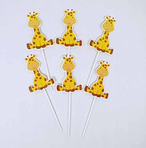 Giraffe Cupcake Toppers (set of 24) - for