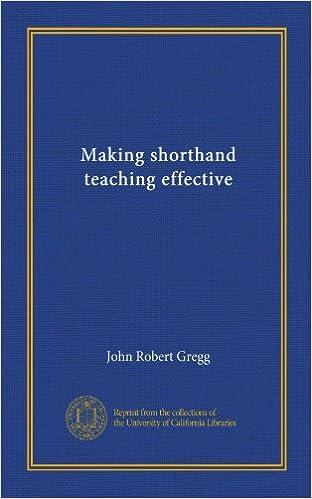 Making shorthand teaching effective