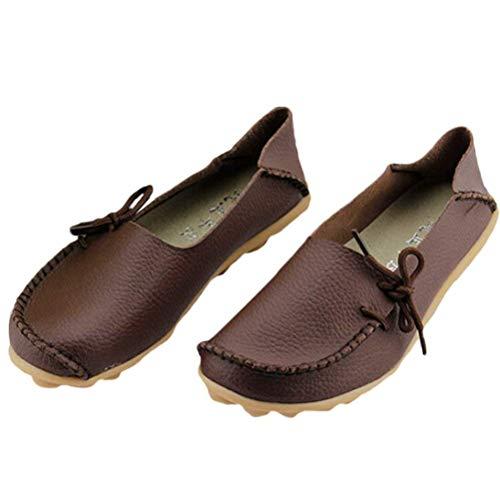 Femmes Le Chaussures À Pour Et CompenséescoloréStyle 1 2 Uk Confort Cuir Fuxitoggo En Mocassins Semelles coffeeTaille Des Travail uKTFlc3J1