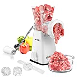 Manual Meat Grinder Stainless Steel Blades Heavy Duty with Powerful...