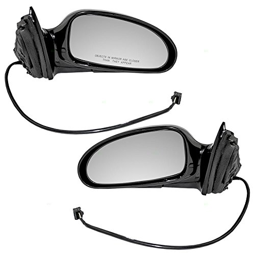 Driver and Passenger Power Side View Mirrors Ready-to-Paint Replacement for Buick 25769728 25769727 AutoAndArt Buick Lesabre Power Mirror