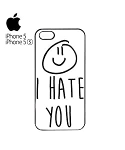 I Hate You X Smiley Mobile Cell Phone Case Cover iPhone 5&5s White