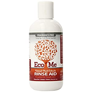Eco-Me Natural Automatic Dishwasher Rinse Aid, Fragrance-Free, 8 Ounce