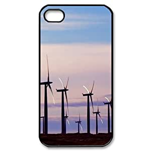 Print Your Own Image Cell Phone Case for iPhone 4,4S - Wind Turbine Phone Case