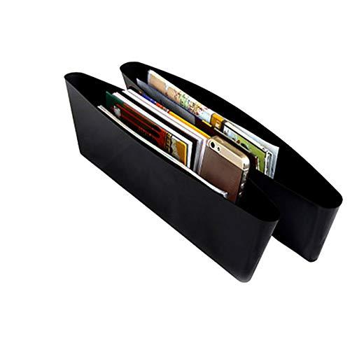 Negro Feketeuki Negro Car Storage Box Gap Filler Consola de pl/ástico Organizador de Bolsillo Accesorios Interiores Asiento de Coche Side Drop Caddy Catcher