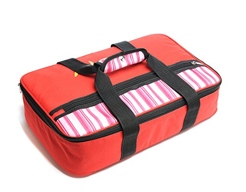 Insulated Casserole Carrier – Hot & Cold Food Keeper– 16.5 x 4.2 x 10.5 inches –  600D Polyester and 10mm EPE Foam with Aluminum Coating