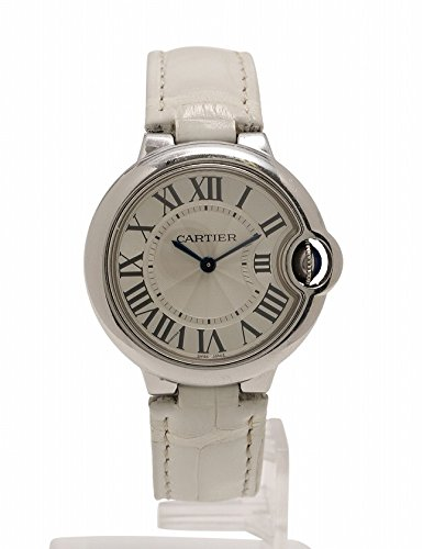 (カルティエ) Cartier 腕時計 バロンブルー ドゥ カルティエ 33mm クオーツ シルバー 白 W6920086 中古 B078WQNH3Y