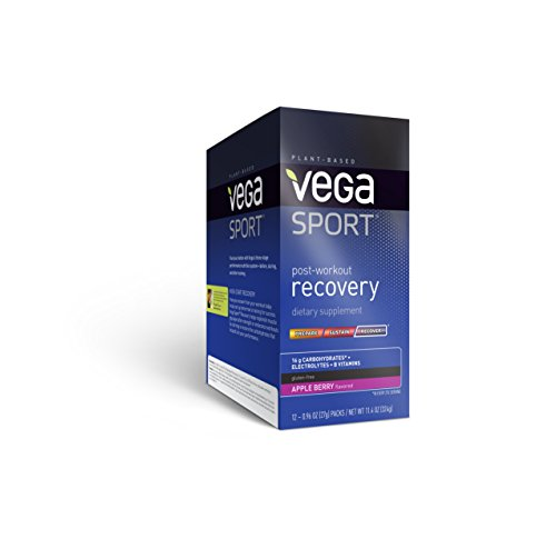 Vega Sport Post-Workout Recovery Accelerator, Apple Berry, 11.52oz, 12 Count For Sale