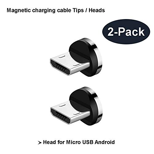 Magnetic Phone Cable Adapter Connector Tips Head for Micro USB Android Devices Phone Pad Tablet 360