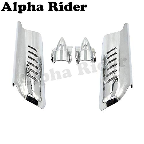 Front Lower Fork Leg Cover Guard Frame Shield Protector for Harley Touring Street Glide FLHX 2006-2013 Road King FLHR 2000-2013 ()