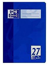 Oxford 100050373, Cuaderno (15 unidades, A5, clase 27, márgenes izquierdo y derecho, 7 mm, 16 hojas, 90 g/m2), Color Azul