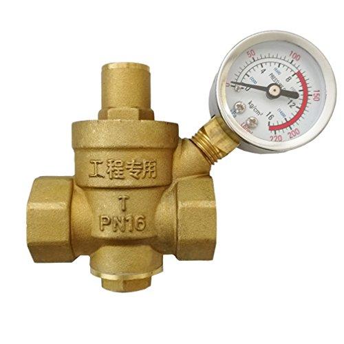 Water Pressure Regulator Valve, Brass Lead-free Adjustable 3/4