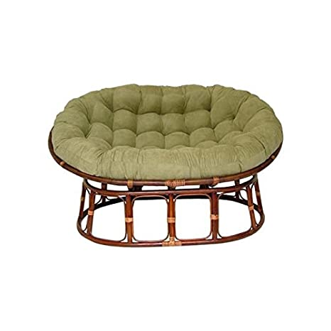 Amazon.com: Doble Papasan silla con cojín microsuede ...
