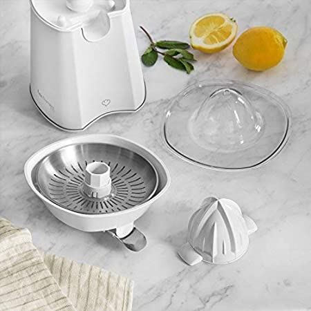Exprimidor de Cítricos Eléctrico de Acero Inoxidable Paula, 100W | Exprimidor eléctrico, exprimidor de zumo con 2 conos - Blanco: Amazon.es: Hogar
