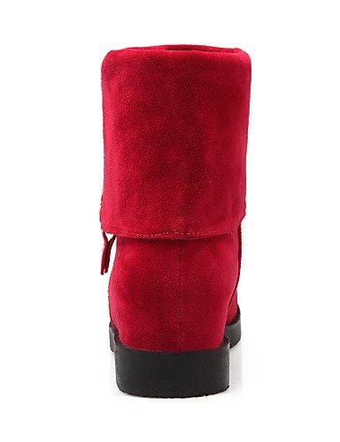 XZZ    Damenschuhe-Stiefel-Büro   Kleid   Lässig-Vlies-Plateau-Armeestiefel   Rundeschuh   Modische Stiefel-Schwarz   Rot   Beige B01KPZVUOE Sport- & Outdoorschuhe Am praktischsten 72ba8b