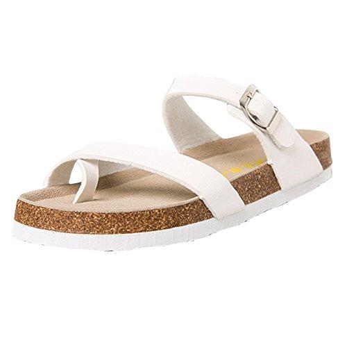Homme Chaussures Sandales Liège Blanc Adulte Chaussures Sandales Plates Femme Unisexe Tongs en ZongSen d0wCP6fxqf