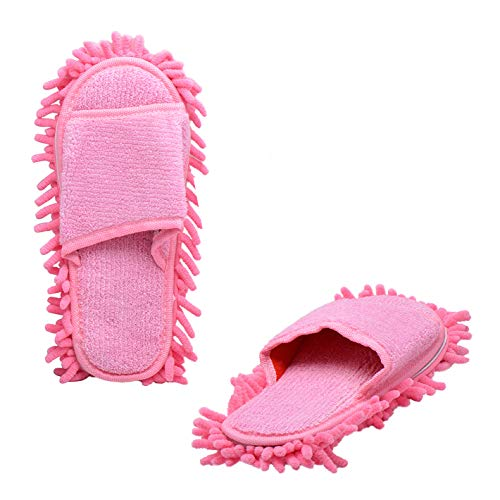 Paialco Double Removable Ultrafine Chenille Cleaning Dusting Mopping Shoes Fits Womens Size 6 to 10