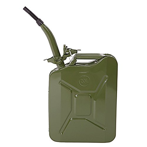 Tenozek 20L 5 Gal Gas Tank Can (US Stardard) 0.8Mm Upgraded Thicken Version Green Color (1)
