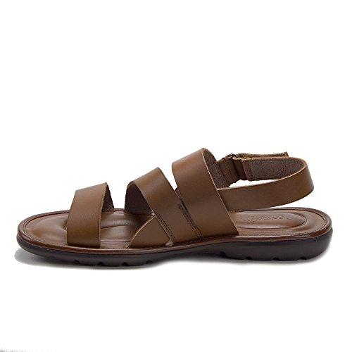 Mens 68732 Comfort Leather Gladiator Open Toe Sling Back Sandals Cognac o7TZkXlG