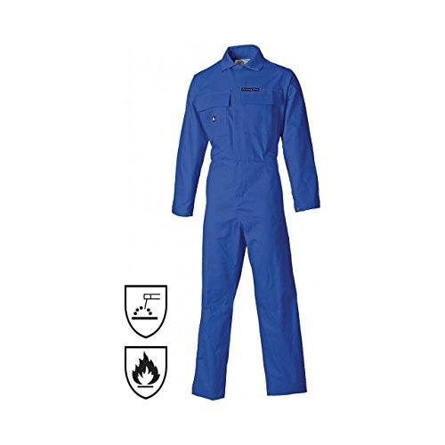Proban Suit - Dickies Mens Proban Flame Retardant Coverall/Overalls (42 inch) (Royal Blue)