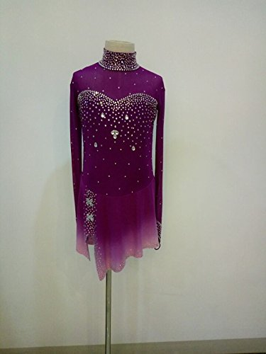 Custom Made Figure Skating Costumes (Fashion Custom Figure Skating Dresses Girls Ice Skating Competition Dresses With Crystals A2254)