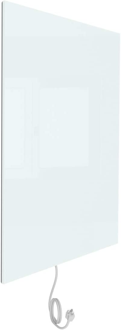 WarmlyYours Ember Glass Radiant Panel - White - 600W - 35