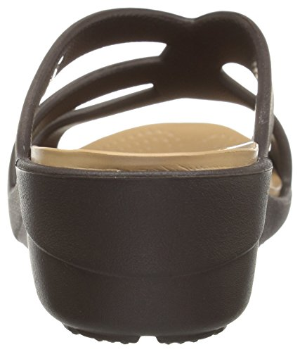 Sanrah Crocs Wedge Ouvert Bout Sandales Strappy Femme Expresso 6wdWdH