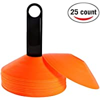 REEHUT Set of 25 Agility Disc Cone with FREE USER E-BOOK...