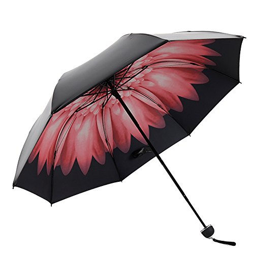 Umbrella for Travel Easy Carrying Windproof Manually Foldable Rain Umbrella Anti-UV Umbrella-A2 (Garden Umberellas)