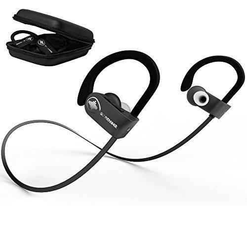 7f48353108b In Ear Wireless Sport Headphones - SoundWhiz Waterproof Workout Earbuds - w Noise  Cancelling Mic &