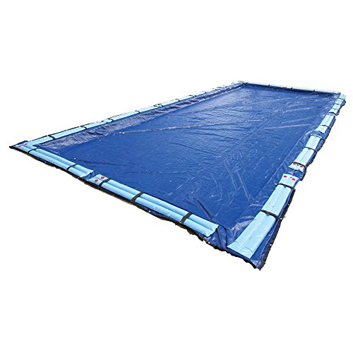 Gold Winter Rectangular Pool Cover - Blue Wave Gold 15-Year 25-ft x 45-ft Rectangular In Ground Pool Winter Cover