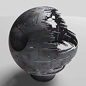 Death Star Fire pit Woodburning Black Ceramic 30
