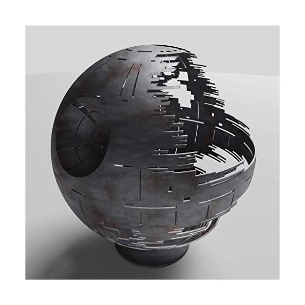 Death Star Fire pit Woodburning Black Ceramic 30