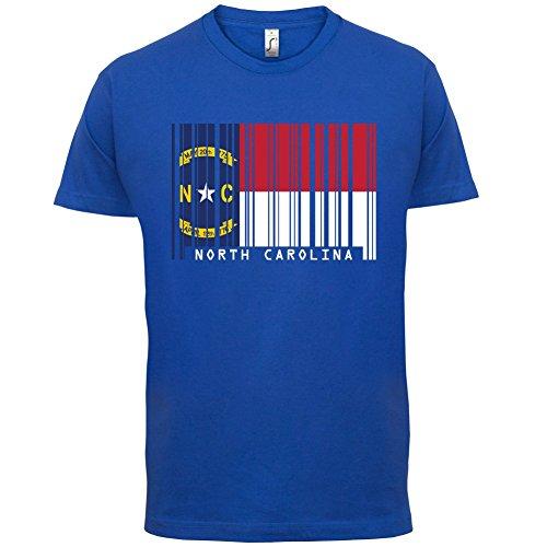 North Carolina / Nord-Carolina Barcode Flagge - Herren T-Shirt - Royalblau - L