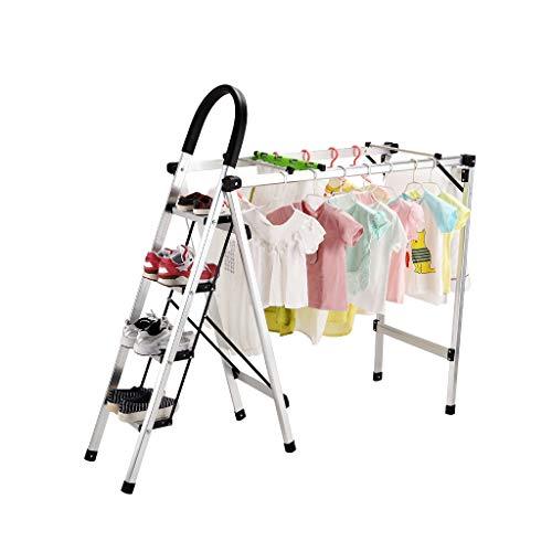 Folding Drying Rack - Folding Ladder Multi-Purpose Indoor Ou