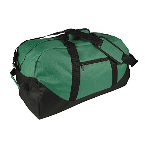 "21"" Large Duffle Bag with Adjustable Strap (Dark Green)"