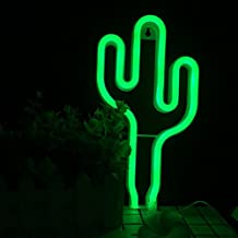 Neon Light,LED Cactus Shaped Decor Light,Wall Decor for Chistmas,Birthday party,Kids Room, Living Room, Wedding Party Decor