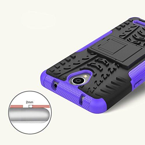 OFU®Para ZTE MAVEN 2/ZTE Z831 Smartphone, Híbrido caja de la armadura para el teléfono ZTE MAVEN 2/ZTE Z831 resistente a prueba de golpes contra la lucha de viaje accesorios esenciales del teléfono-ve blanco
