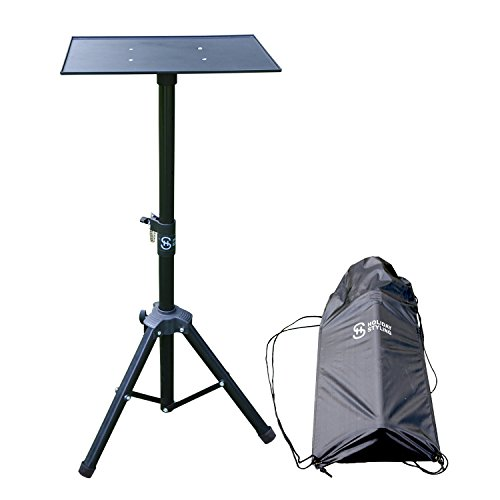 """Laptop Tripod Mount (Laptop Projector Tripod Stand – Adjustable Table With Sturdy Base – Portable Set With Storage Bag 30"""" – 44"""")"""